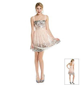 Emerald Sundae® Juniors' Blush Sequin Party Dress. bergners | My ...