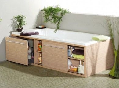 Under Bath Storage With Drawer Or Sliding Cupboard Door Makes Full Use Of Every Inch E