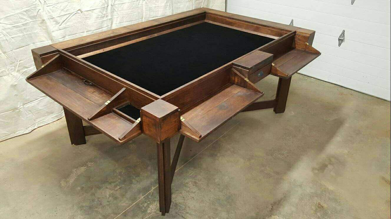 Solid Hickory Board Game Table by KremaDesigns on Etsy