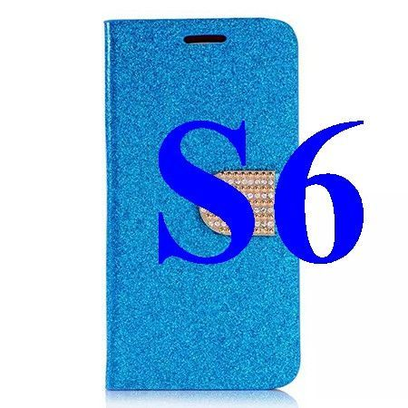 Diamond Phone Cases For Samsung Galaxy S4 /S5 /S6 /S6 edge Luxury Women Bling Glitter Cover Wallet Stand Leather Case S IV I9500
