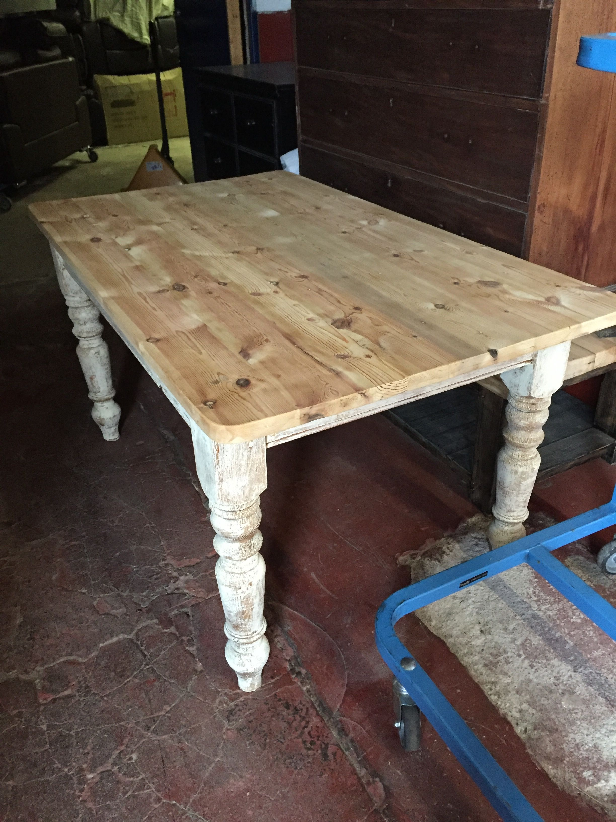 Shabby Chic Pine Farmhouse Table, We Have Lots In Stock