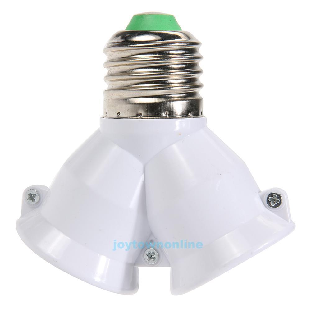 1 35 2 In 1 E27 Lamp Socket Splitter Adapter Light Double Y Bulb Base Stand Holder Ebay Home Garden Lamp Socket Light Bulb Bases Lamp Bases