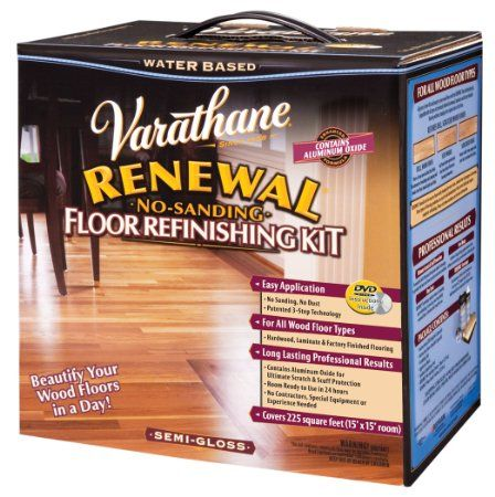 Rust Oleum Varathane 242008 Renewal No Sanding Floor Refinishing Kit Semi Gloss Refinishing Floors Refinishing Kit Refinish Wood Floors