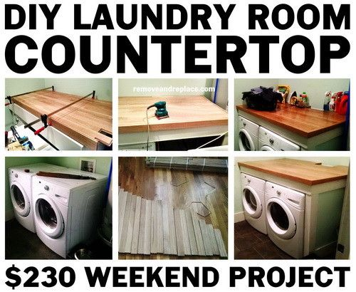 Diy Laundry Room Countertop Easy Build Laundry Room