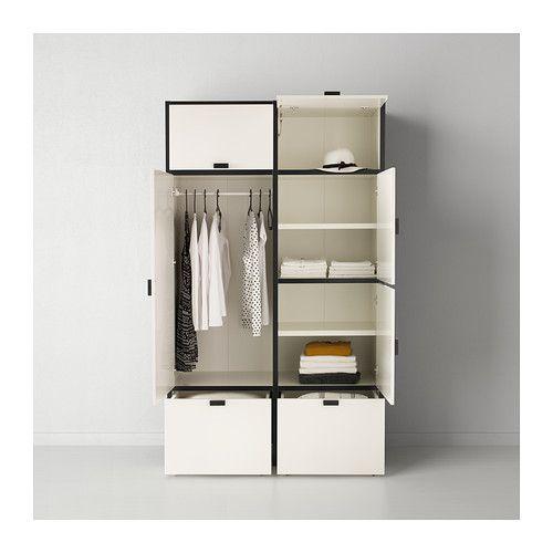 ODDA Wardrobe IKEA The Bottom Drawers Have Castors And