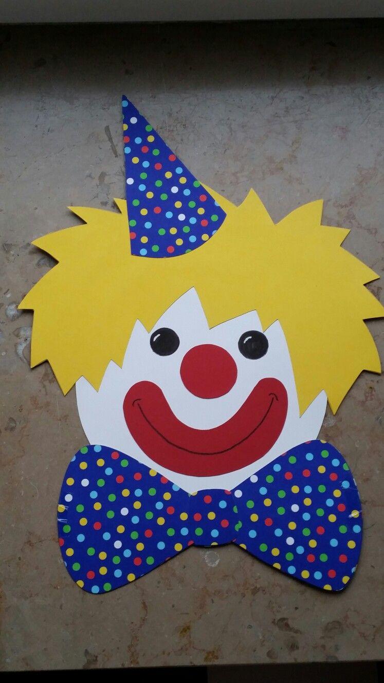 Clown Kopf Fensterbild