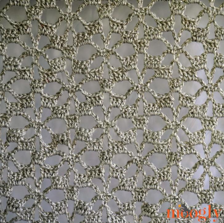 Snowflake Lace Throw | Puntos