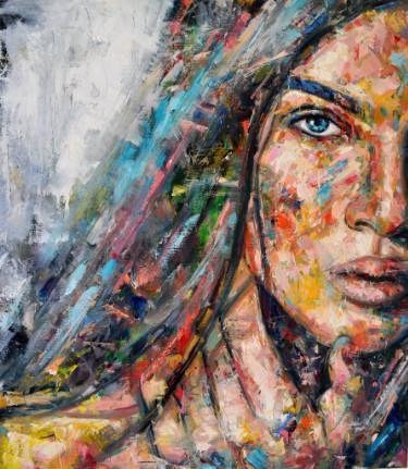 """Saatchi Art Artist Dejan Bozinovski; Painting, """"Young Portrait"""" #art"""