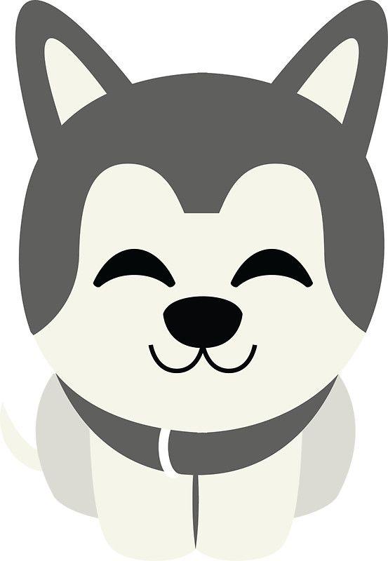 Siberian Husky Emoji Delighted Cheerful Look | Sticker