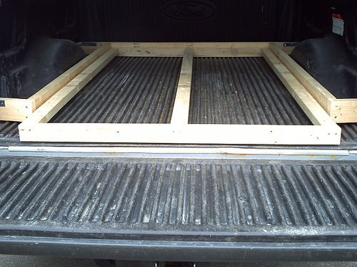 Home Made Bedslide Sunline Coach Owner S Club Truck Bed Organization Truck Bed Truck Bed Camping