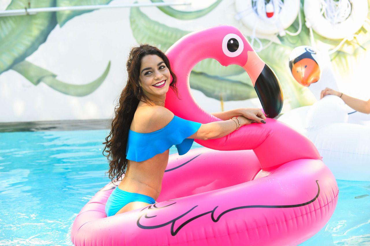 Vanessa & Stella Hudgens in a Hotel\'s pool in Miami, Florida. (April ...