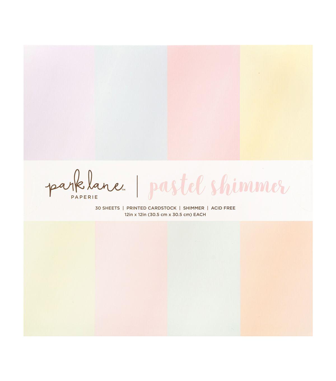 Park Lane 12 X12 Pastel Shimmer Paper Pad Joann Paper Pads Shimmer Paper Shimmer