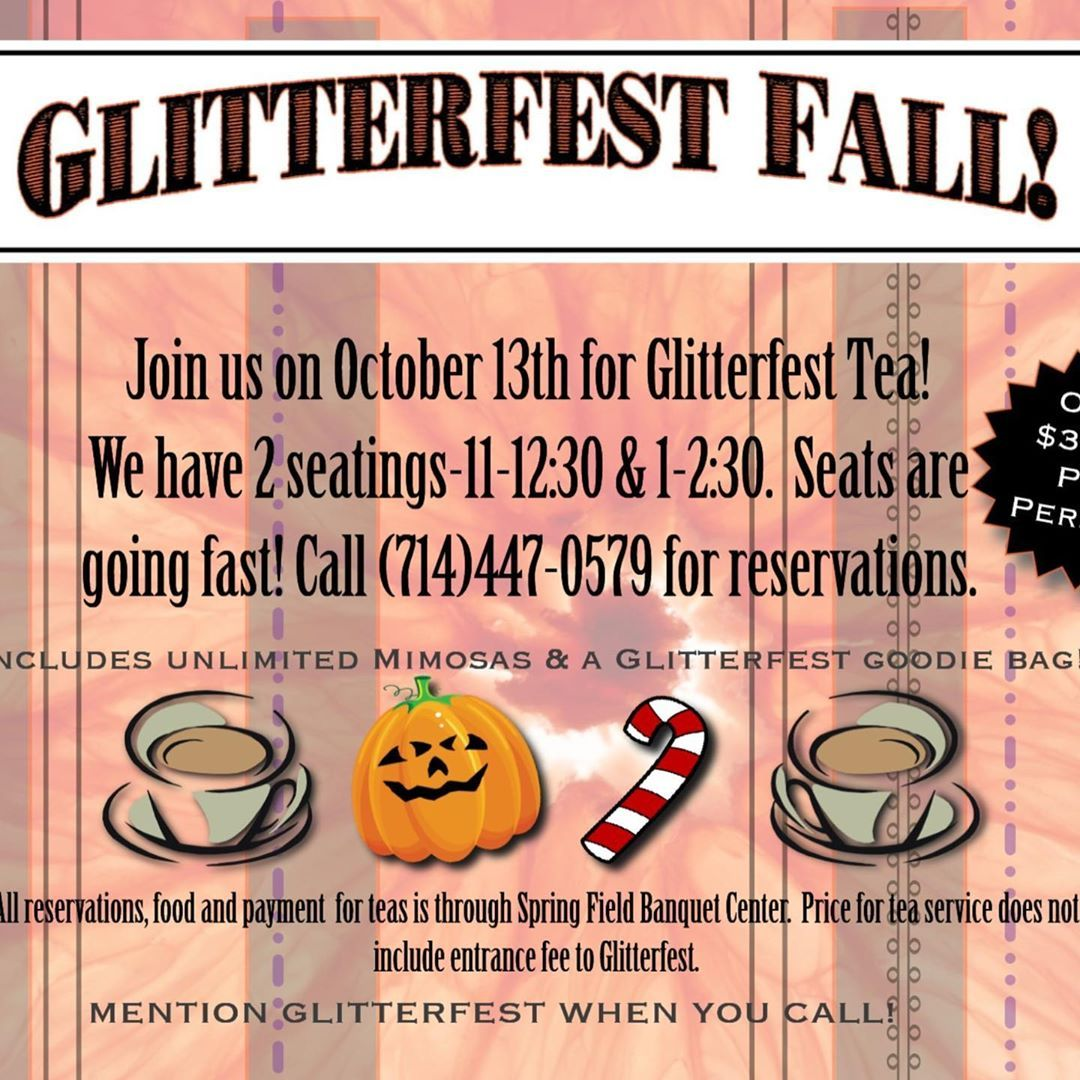 In case U didn't know!  Glitterfest Fall is gonna be AMAZING!  Come join us on October 13th.