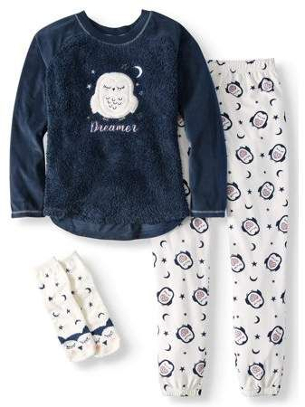 20d111943c2 Secret Treasures women s and women s plus giftable 3pc pajama set with socks