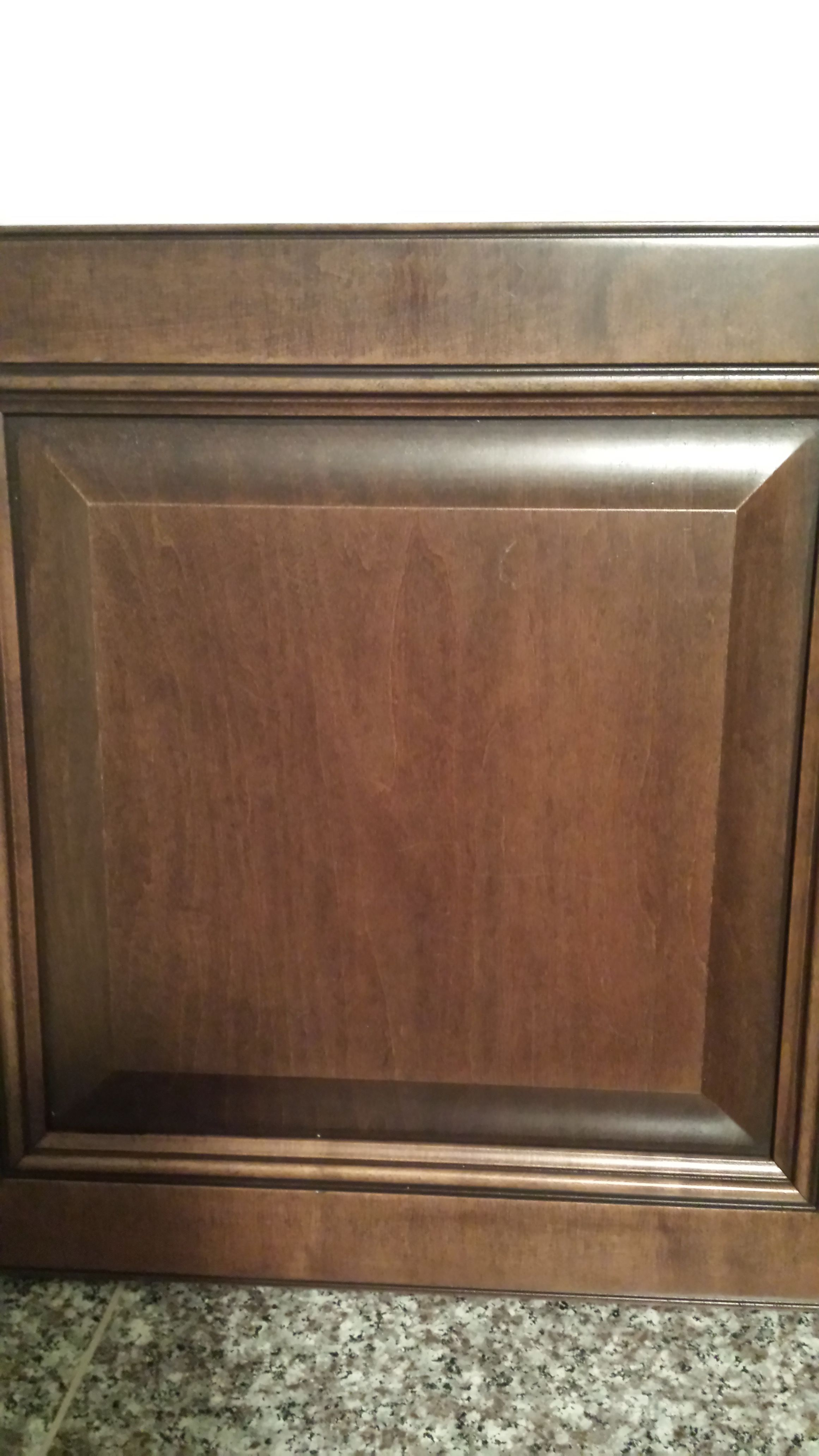 maple cabinet with pecan stain and coffee glaze | Maple ...