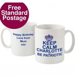 Keep Calm Be Patriotic Mug   Mugs   Exclusively Personal