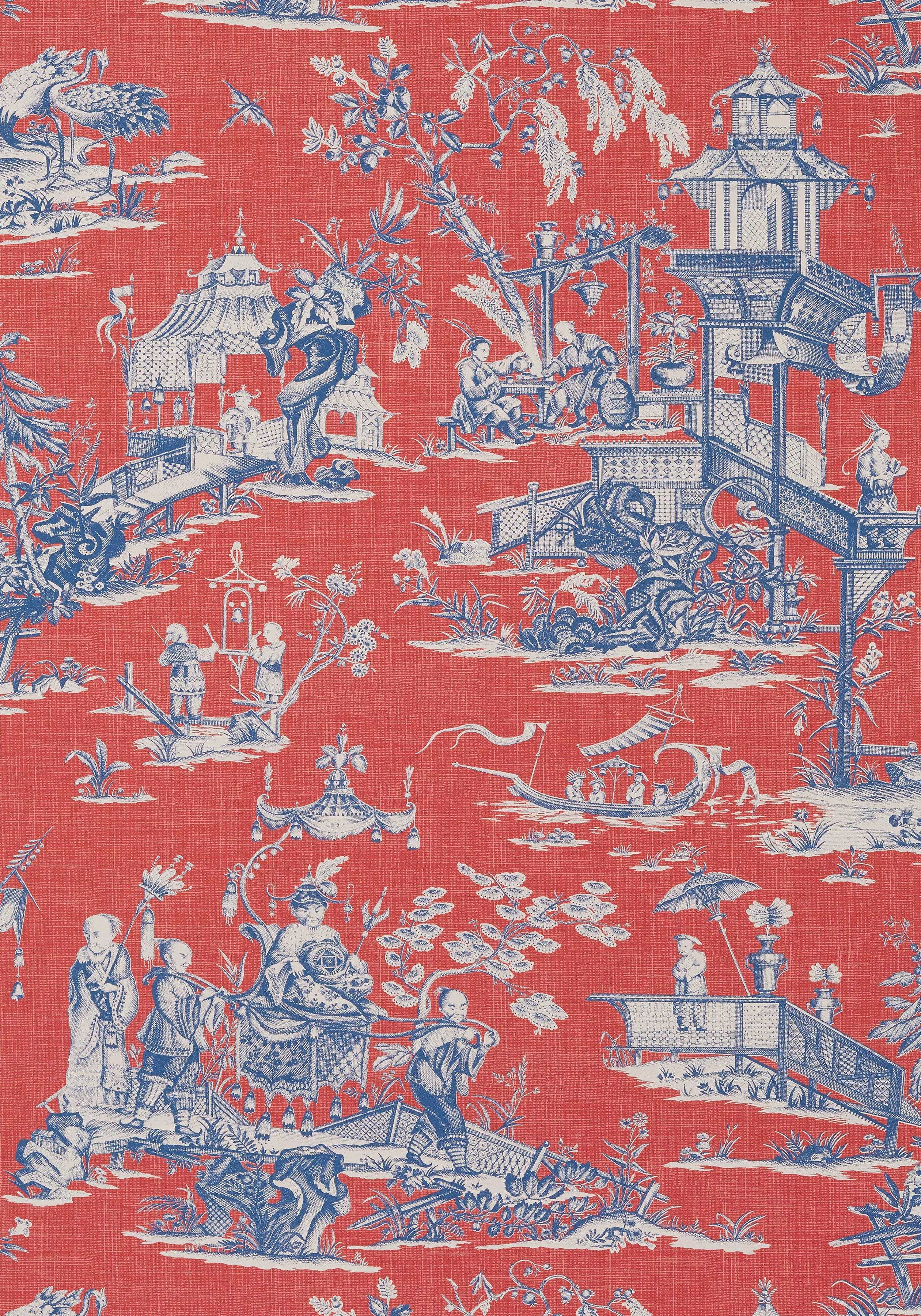 CHENG TOILE, Red and Blue, T75466, Collection Dynasty from