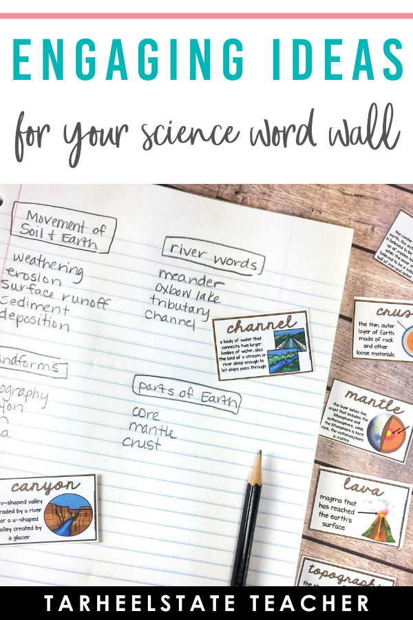 Interactive Activities and Ideas for Your Science Word Wall — Tarheelstate Teacher