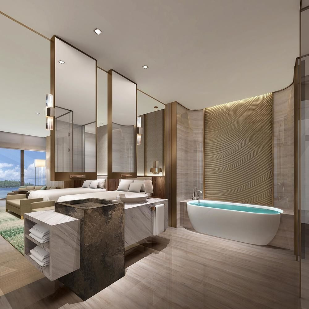 Best Conrad Xiamen 2016 Guestroom Bathroom Modern Bathroom 640 x 480