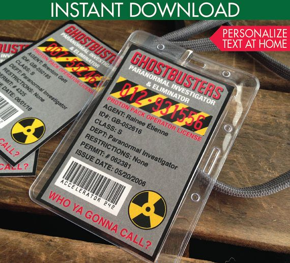 Ghostbuster ID Badges, Ghostbuster