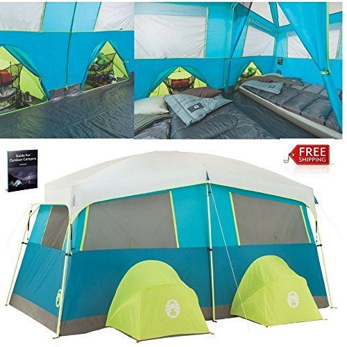 Cheap Instant Cabin Tent 8 Person Best Cheap Waterproof Easy Setup Portable  Deluxe Big Cabin Tent Bike Kayak Green Outdoor Camping Hiking Family Large  ...