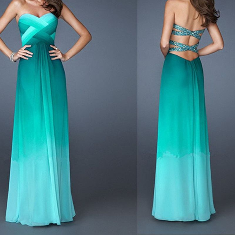 Hot Sexy Backless Long Evening Dresses