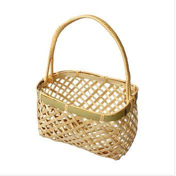 creative housewares bamboo picnic basket cesta storage cesto gift ...