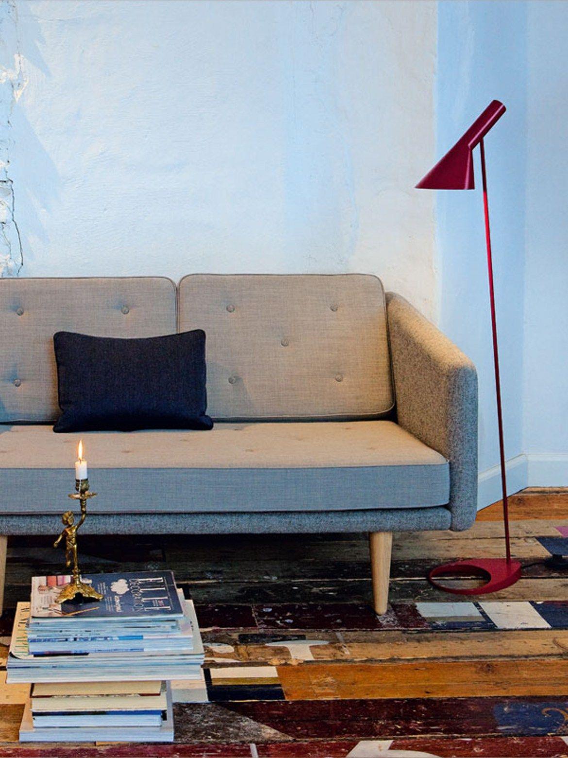Aj stehleuchte in rot einrichten mit skandinavischem design aj stehleuchte in rot parisarafo Gallery