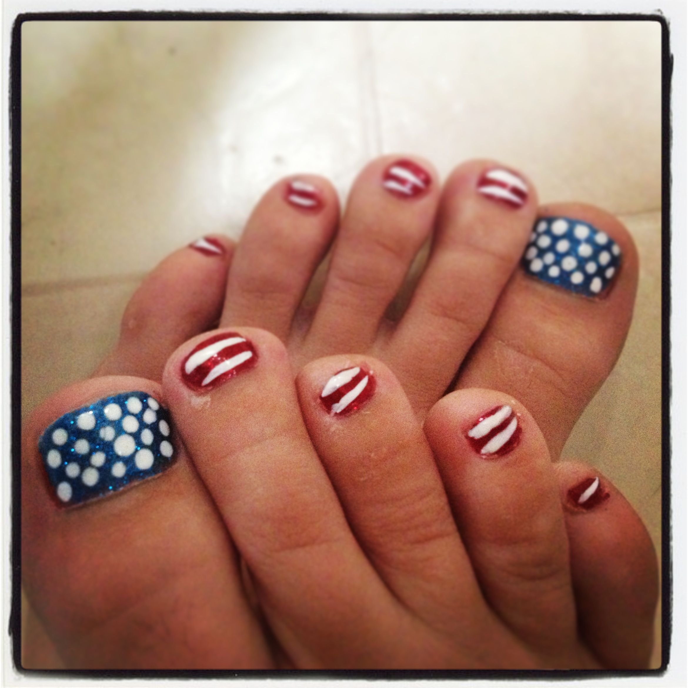 My 4th of July nails #nailart #4thofJuly #toenails | Nails | Pinterest