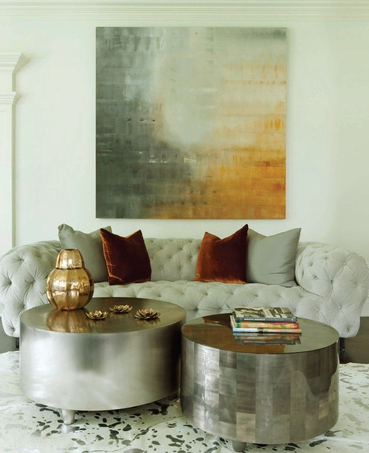 Living Room Contemporary Modern With A Subtle Palette