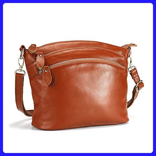 ba4e5123ef Lecxci Small Luxury Genuine Leather Cross Body Purses