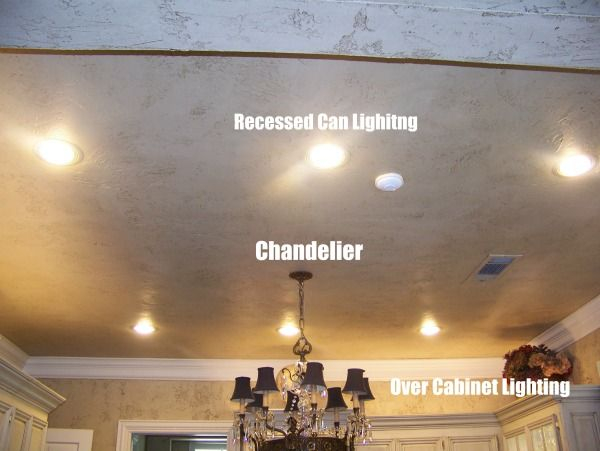 recessed can lights chandelier over cabinet lighting light it