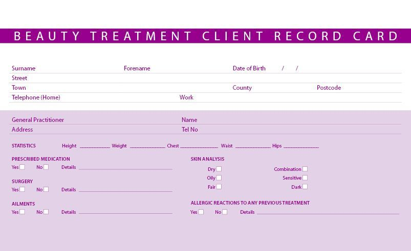 Free Spa Client Record Form Yahoo Image Search Results Making Ideas