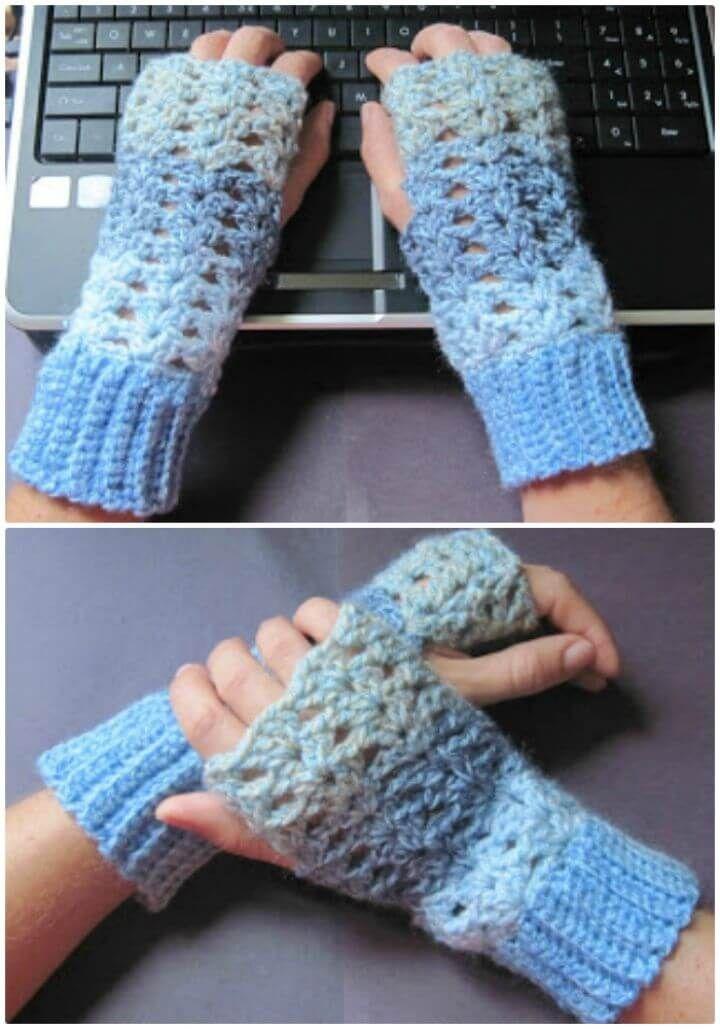 54 Free Crochet Fingerless Gloves Pattern For Beginners Free