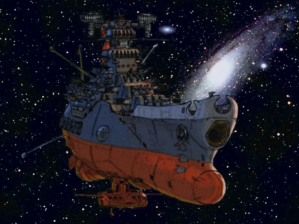 Anime Space Battleship Yamato Battleship Futuristic