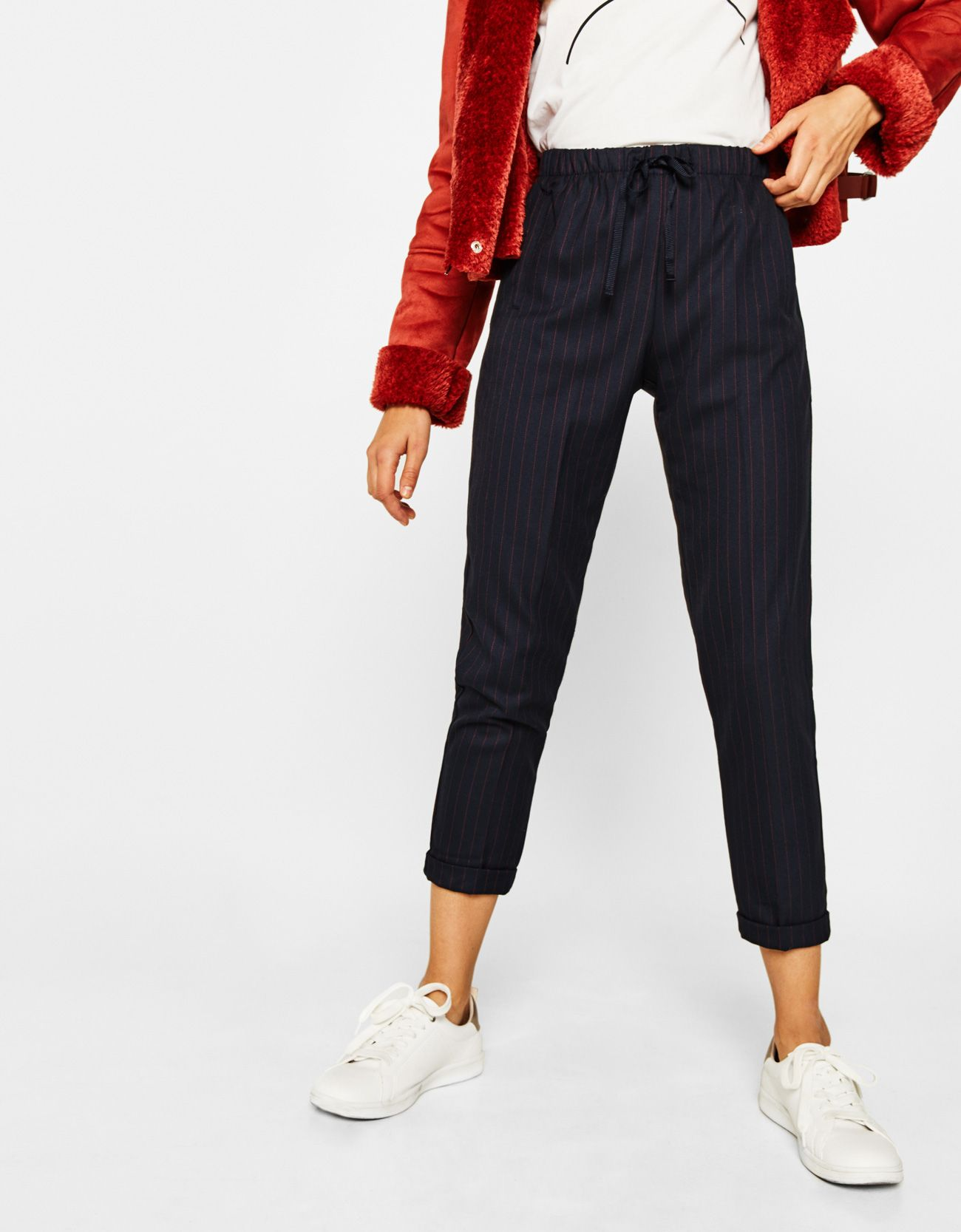 Enjoy every moment of the day with our tailored trousers, culottes or  palazzo pants for women at Bershka this Autumn Winter Don't let anything  stop you!