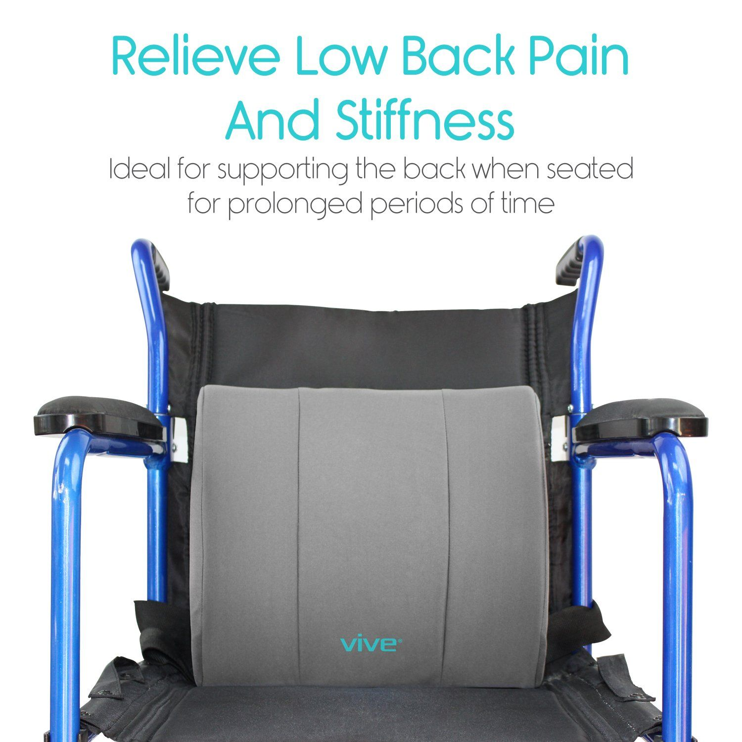 Lumbar support pillow by vive lower back seat cushion for office