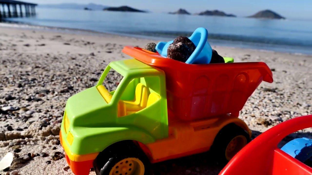 Foto Divertenti Bambini Al Mare i camion vanno al mare! - video divertenti per bambini (con