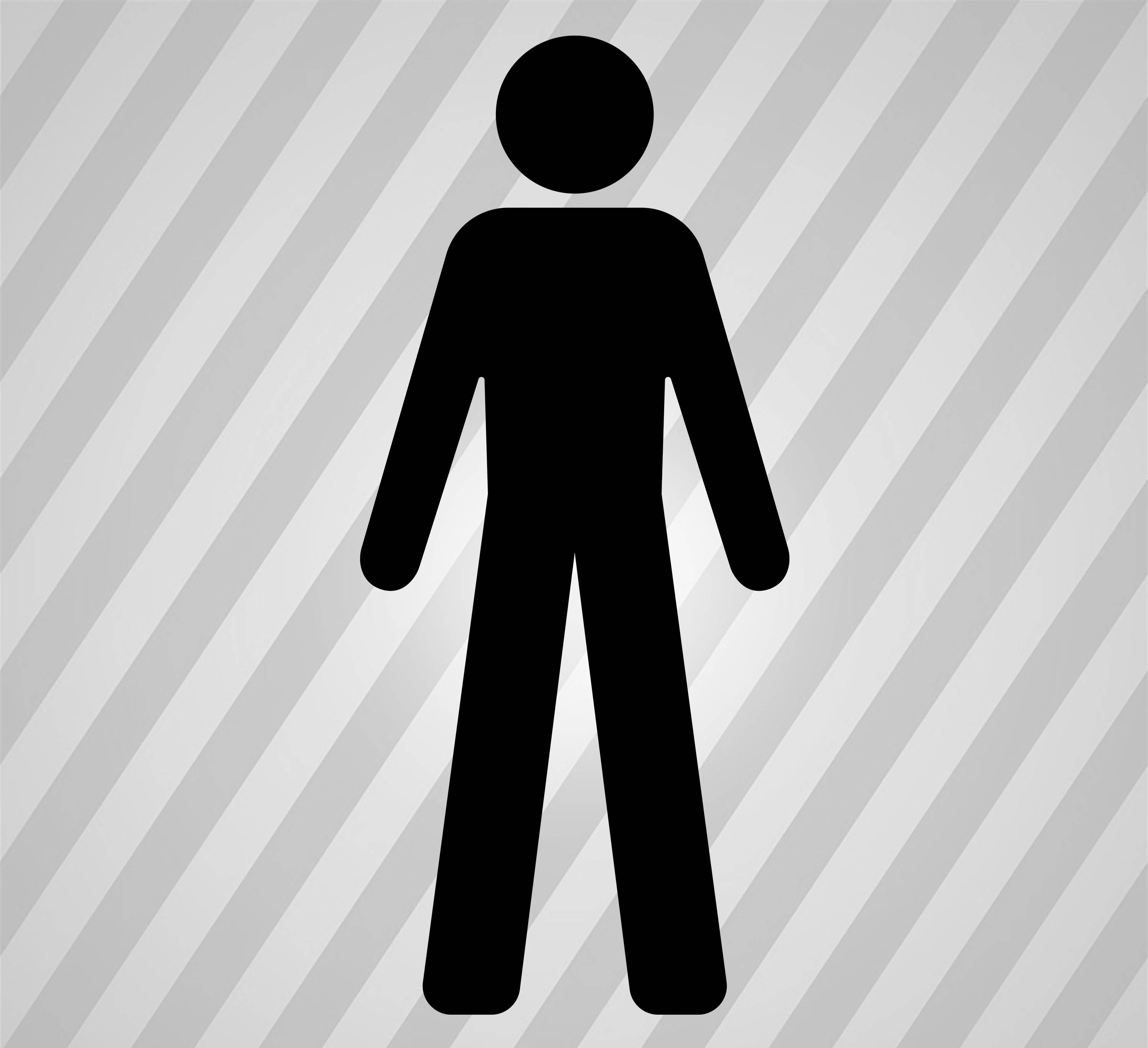 Male Bathroom Symbol Silhouette
