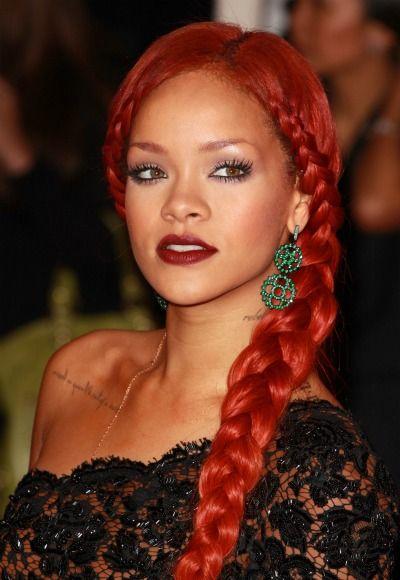 Rihanna Hair Rihanna Pinterest Hair Rihanna Red Hair And Braids