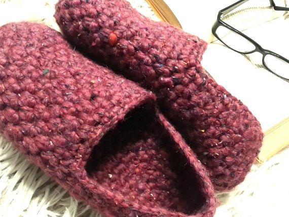 e356bba8fc595 Men's House slippers Crochet men's slippers Men's yarn shoes Gift ...