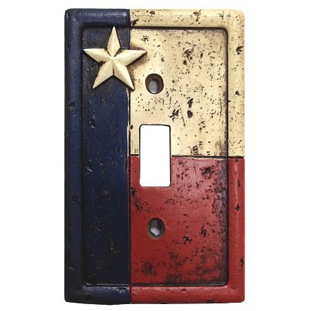Rustic Texas Flag Decorative Switch Wall Plate Single Switch