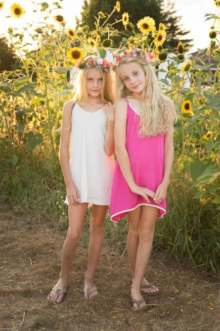Stop And Smell The Sunflowers  Kids Fashion, Little Girl -4908
