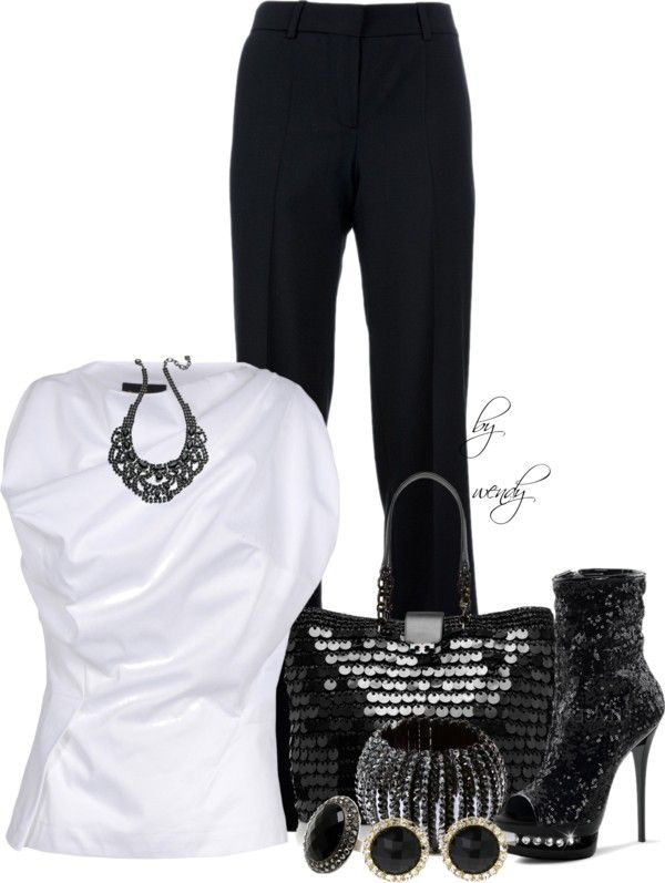 """""""Black and white entry"""" by wendyfer on Polyvore"""