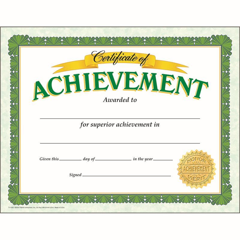 CERTIFICATE OF ACHIEVEMENT CLASSIC Make students feel proud with - award of excellence certificate template