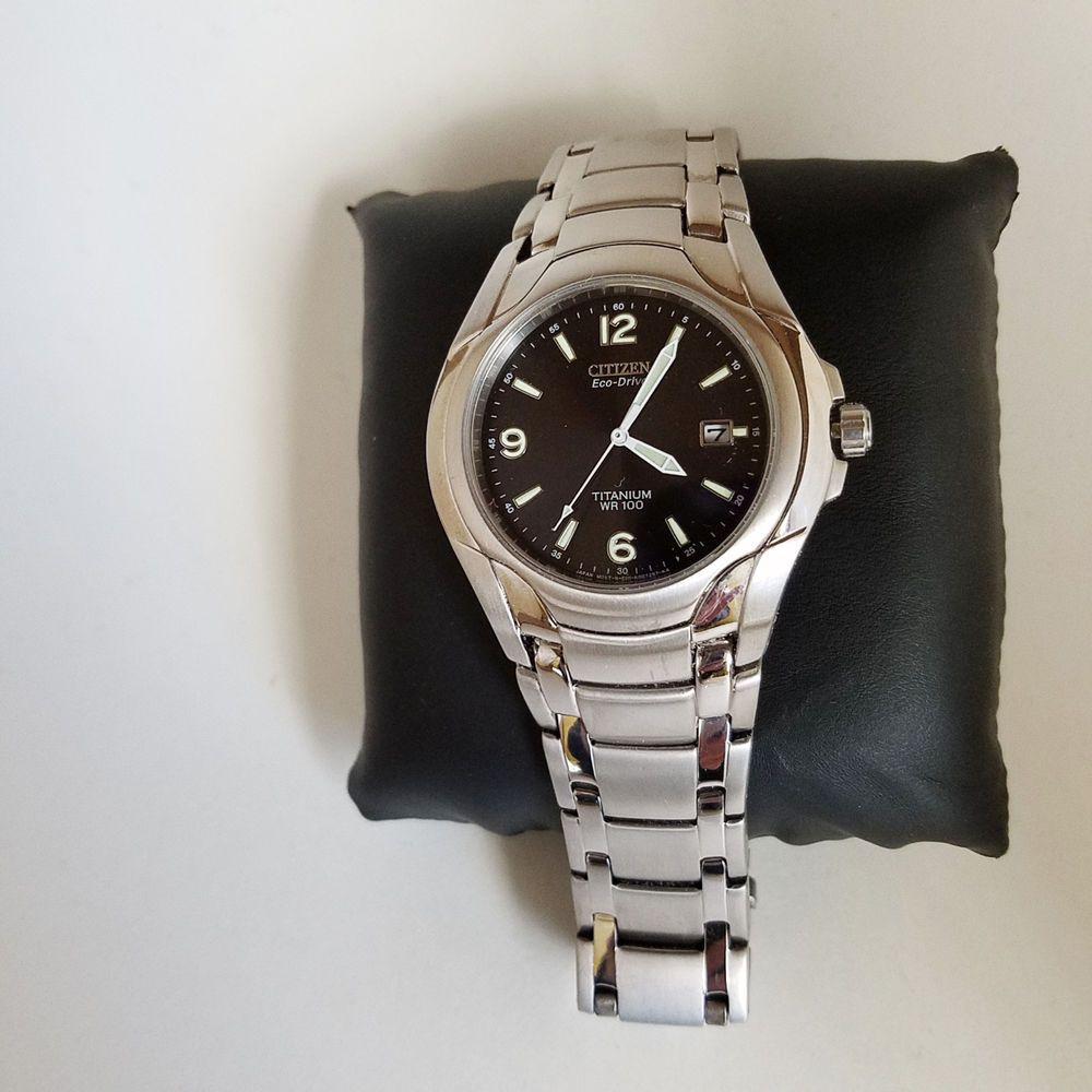 dba933d6d Mens Citizen Eco-Drive Titanium Watch WR100 E111-K006368 GN-4W-S Japan Mvt # Citizen #Casual