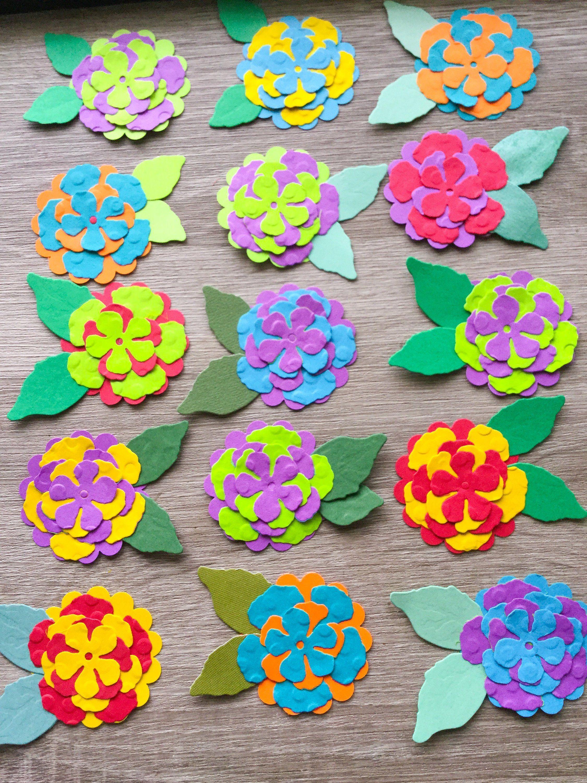 scrapbooking flowers  stampin up bird embellishments
