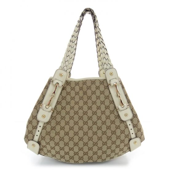 14d432ae0287fa This is an authentic GUCCI Monogram Medium Pelham Shoulder Bag in White The  refined features and