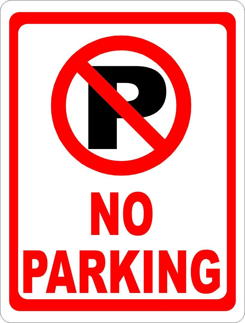 No Parking Sign With Symbol Parking Signs Retail