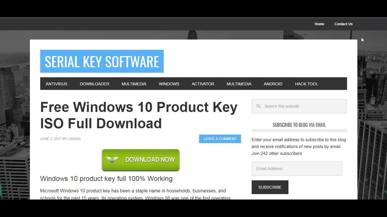 windows 10 product key software download